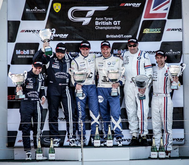 Silverstone May 2013 British GT Podium